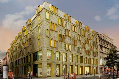 Bild: Fassadenwettbewerb Hotel- und Geschäftshaus Grimmaische Straße Leipzig