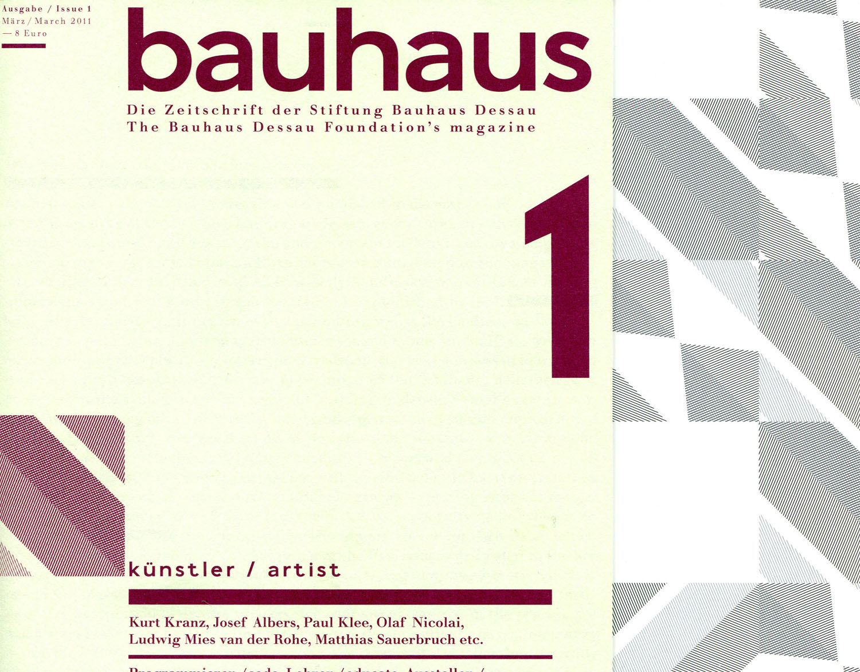 Bild: Neues Bauhaus Magazin – mit Insert von Regina Bittner, Wilfried Hackenbroich und Stefan Rettich