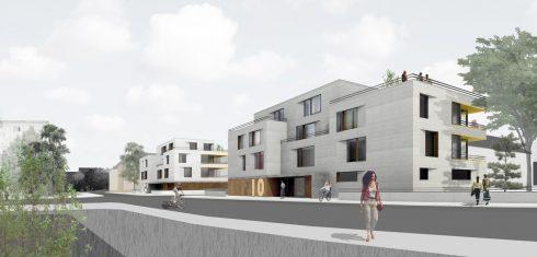 Bild: Mehrfamilienhäuser in Sichtweite zum Bauhaus Dessau