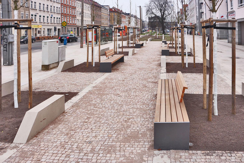 Bild: Magistralenentwicklung Georg-Schumann-Straße – Eröffnung des Möckernschen Marktes am 17. Dezember